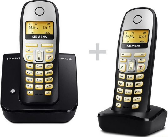 siemens gigaset a260 duo schnurloses dect telefon mit. Black Bedroom Furniture Sets. Home Design Ideas
