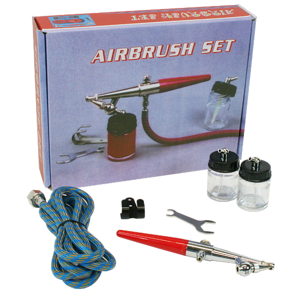 Airbrush Pistole Single-Action BD-158  Komplett Set Spritzpistole Lackierpistole