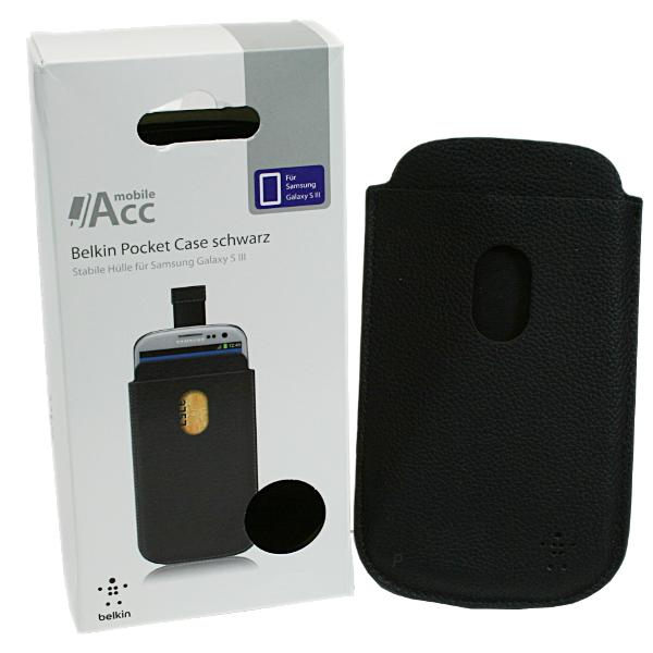 Belkin Pocket Case schwarz Schutzhülle Cover für Samsung Galaxy S3