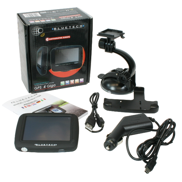 Bluetech GPS 4 Giga Navigationsgerät Navi / 3584176540708