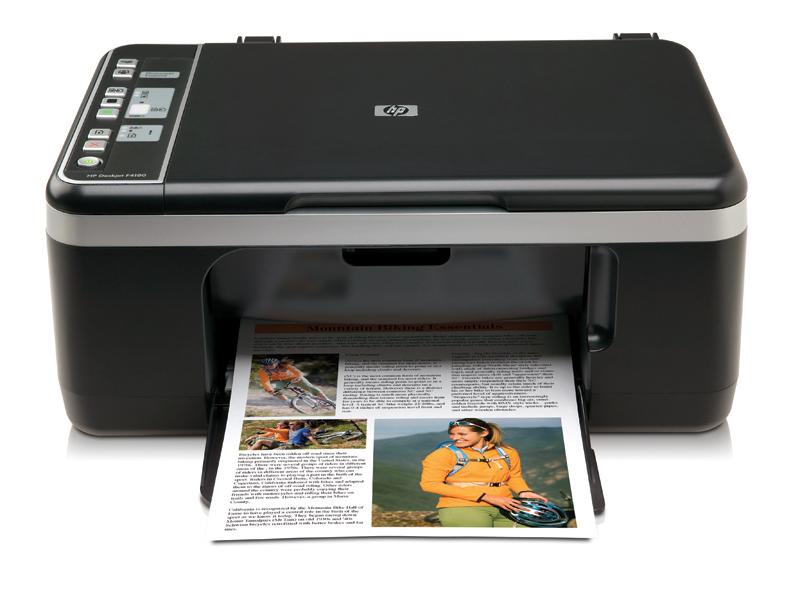 hp deskjet f4180 drucker scanner kopierer all in one ebay. Black Bedroom Furniture Sets. Home Design Ideas