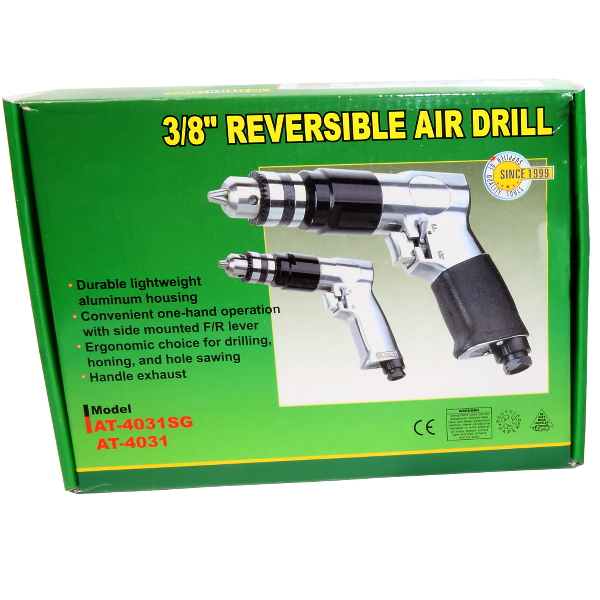 """Druckluft Bohrmaschine AT-4031 Druckluftschrauber 3/8"""" Rechts und Linkslauf / 0696007710525"""