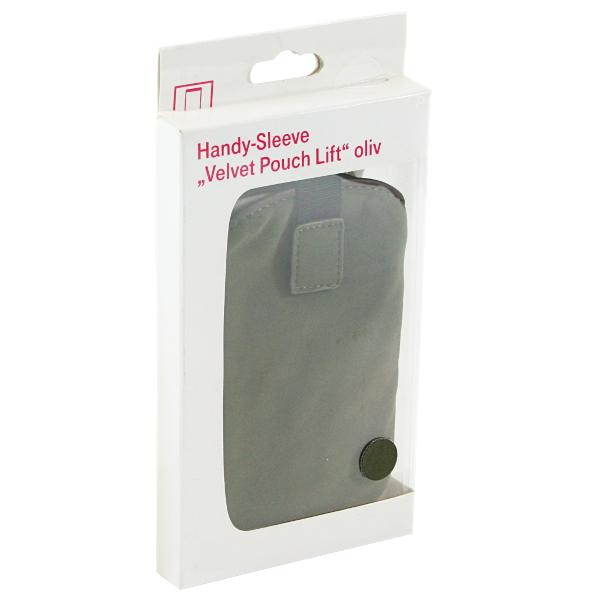 Hama Velvet Pouch Lift oliv  Schutzhülle Handytasche Cover für Smartphone