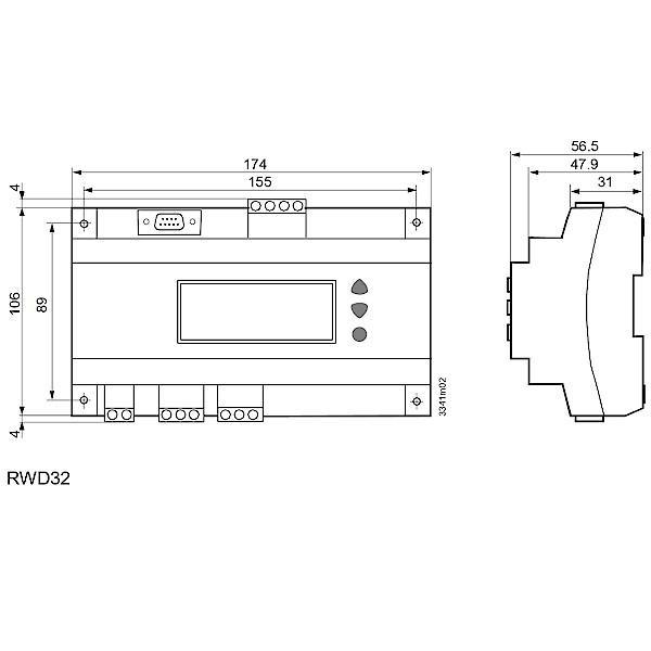 Siemens RWD32 Universal Controller Universalregler Thermostat / 7612914001849