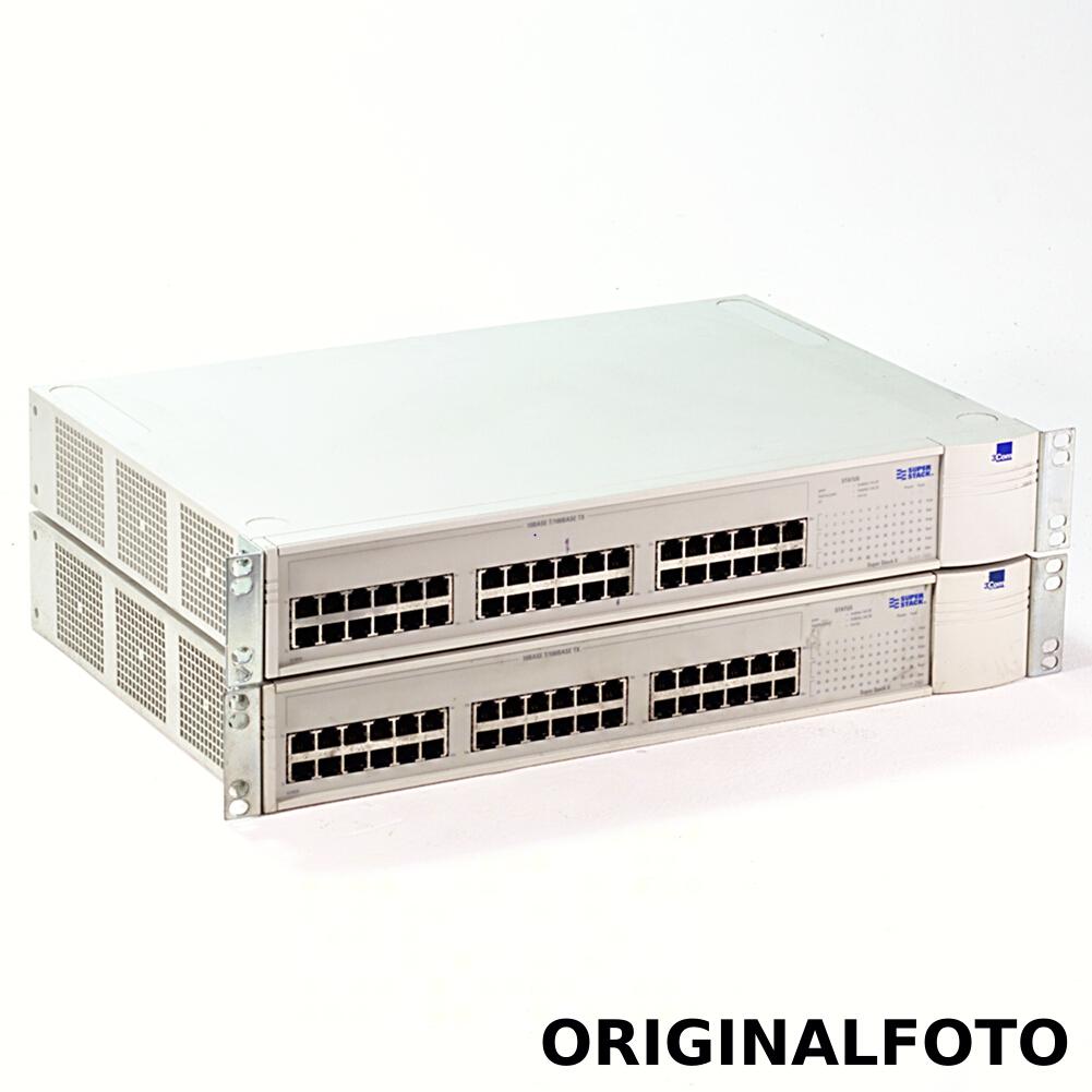 2x 3COM 3C39036 SuperStack II Netzwerk Switch 3900 36 Port 10/100MBit 1000MBit-SX