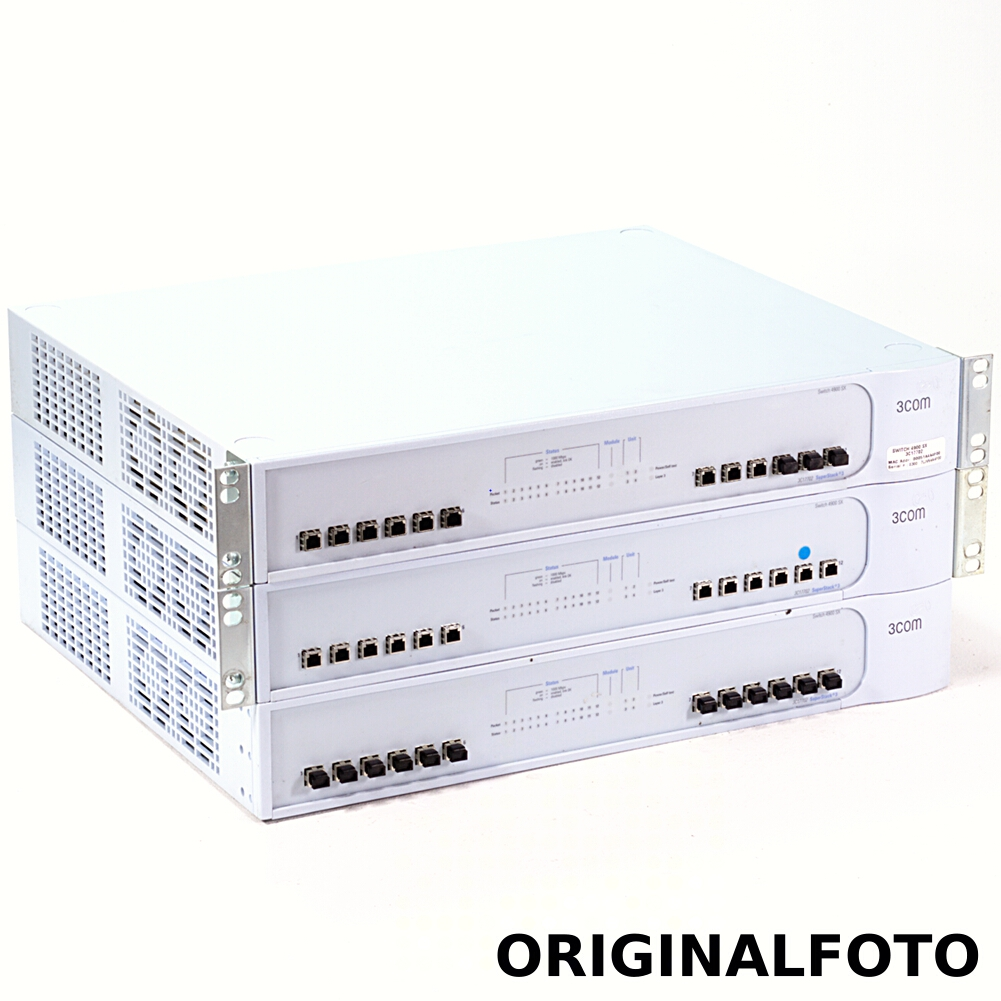 3x 3Com SuperStack 3 Switch 4900 Gigabit Fiber SX 3C17702