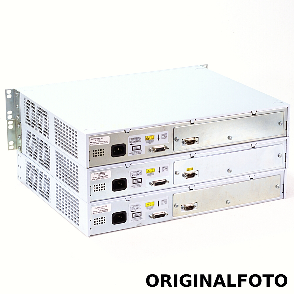 3x 3Com SuperStack 3 Switch 4900 Gigabit Fiber SX 3C17702
