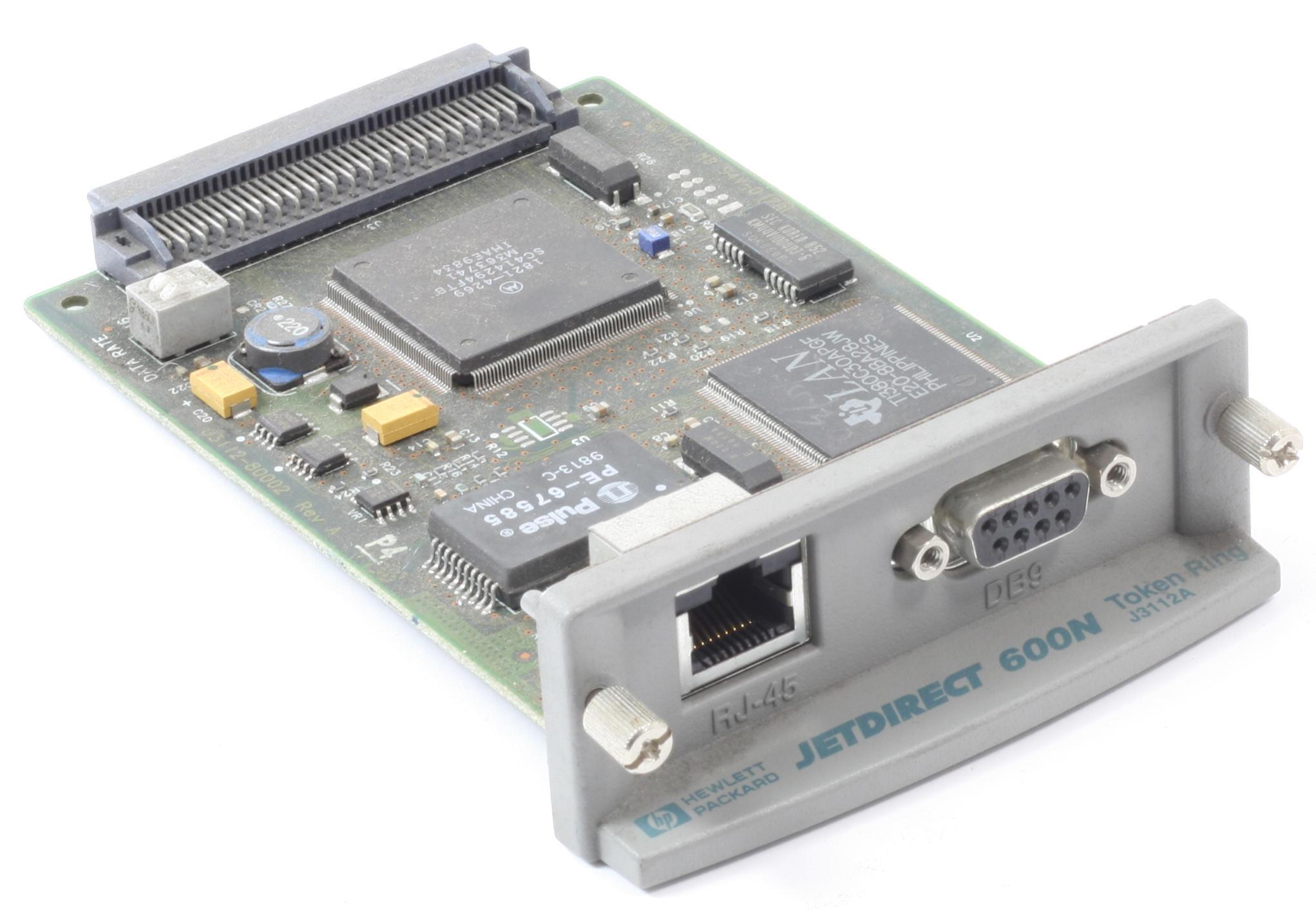 HP Jetdirect 600N J3112A Drucker EIO Token Ring Netzwerkkarte gebraucht