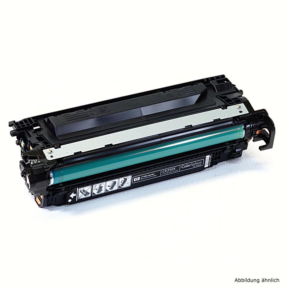 HP 504X Original Toner CE250X Schwarz Drucker CM3530fs CP3525 CP3525DN / 25% Toner Füllstand