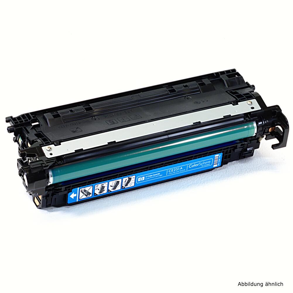 HP 504A Original Toner CE251A Cyan Drucker CM3530fs CP3525 CP3525DN / 45% Toner Füllstand