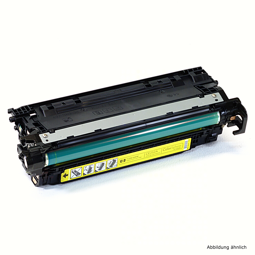 HP 504A Original Toner CE252A Gelb CM3530fs CP3525DN Füllstand  / 55% Toner Füllstand