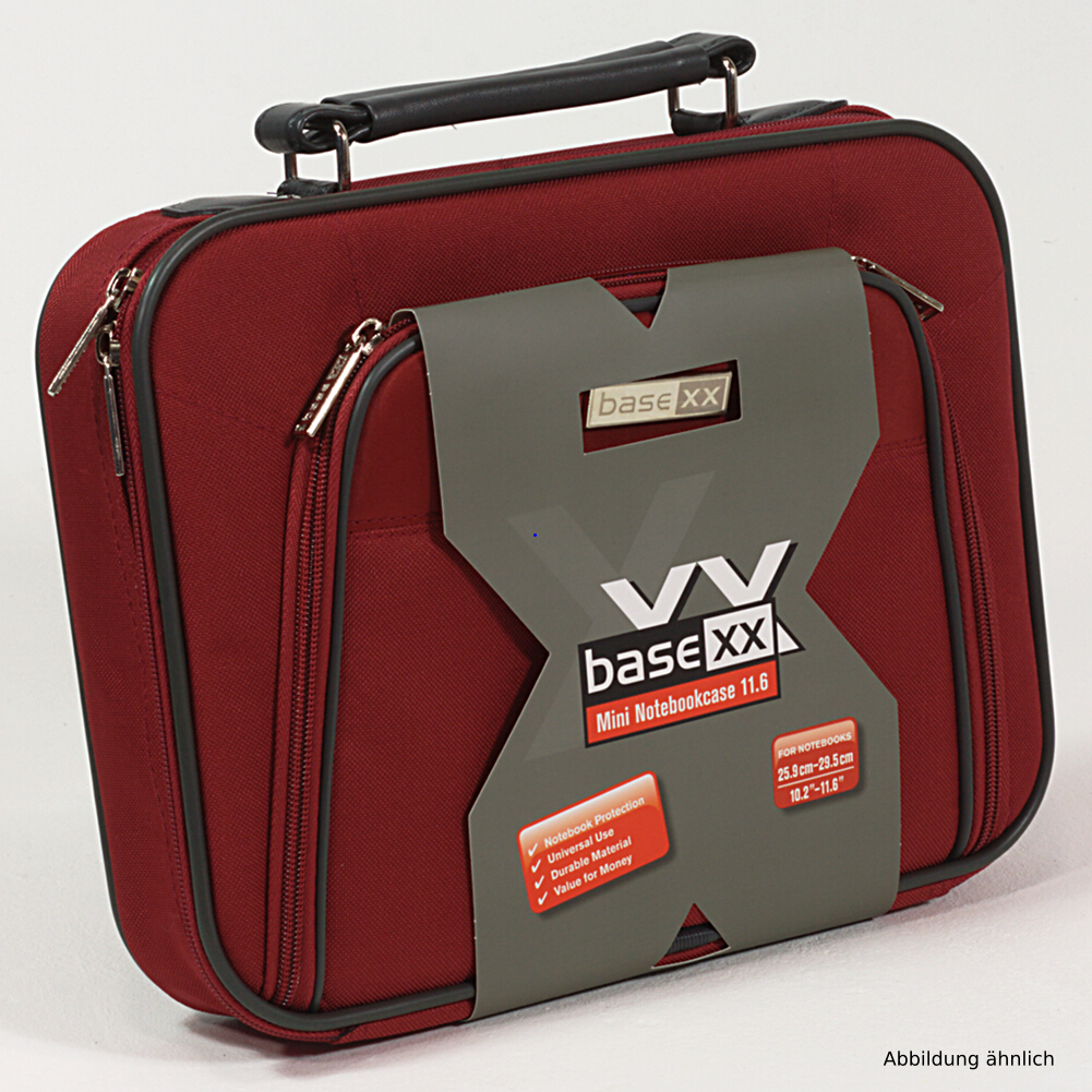 Dicota Notebooktasche BaseXX 11.6 Zoll Mini Tasche Rot N24098P für Notebook iPad
