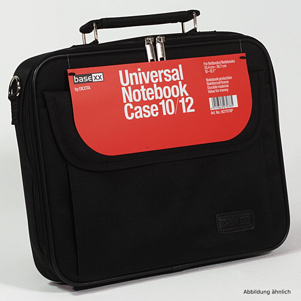 Dicota Notebooktasche BaseXX 12,1 Zoll Tasche Schwarz N27078P für Notebook