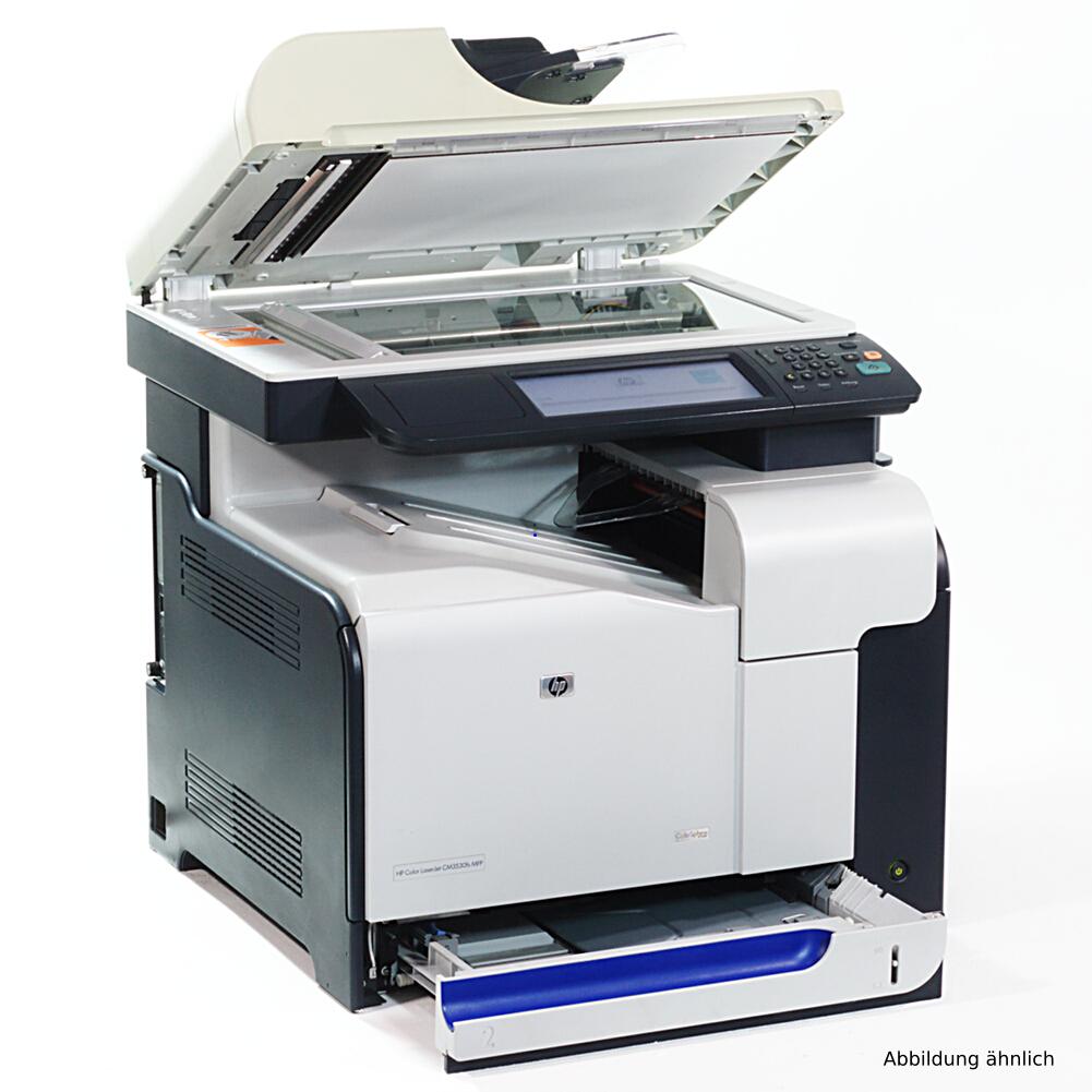 HP Laserjet CM3530fs MFP Color Drucker Kopierer Scanner Fax gebraucht