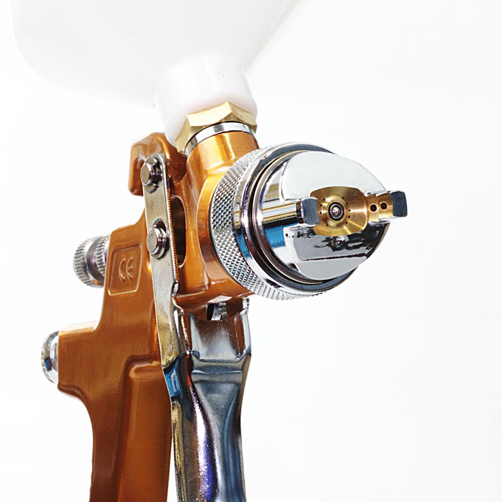 HVLP Spritzpistole Lackierpistole 2,0mm Düse Gold Sprühpistole Druckluftpistole