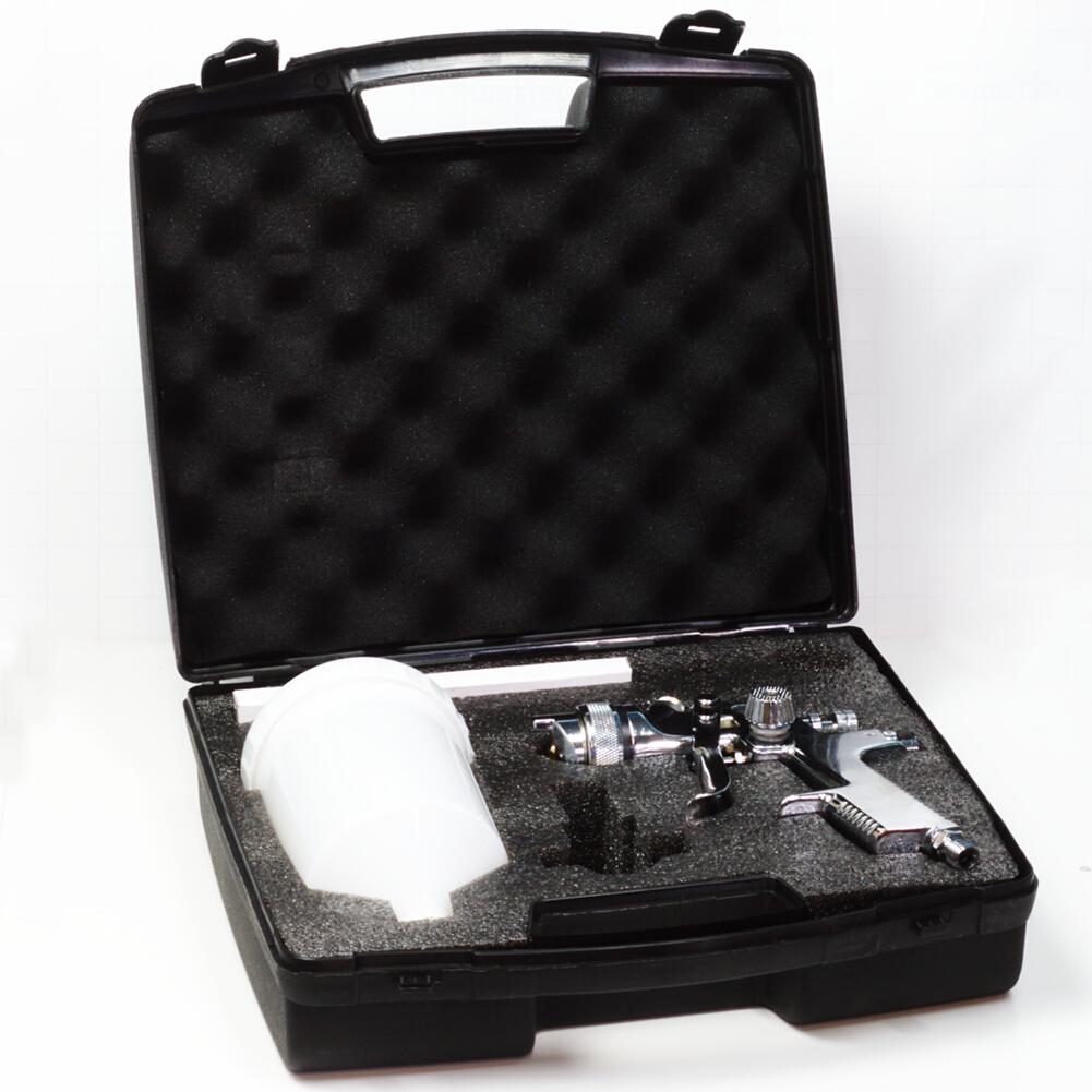 HVLP Spritzpistole Lackierpistole im Koffer 1.8mm Düse Sprühpistole Druckluftpistole