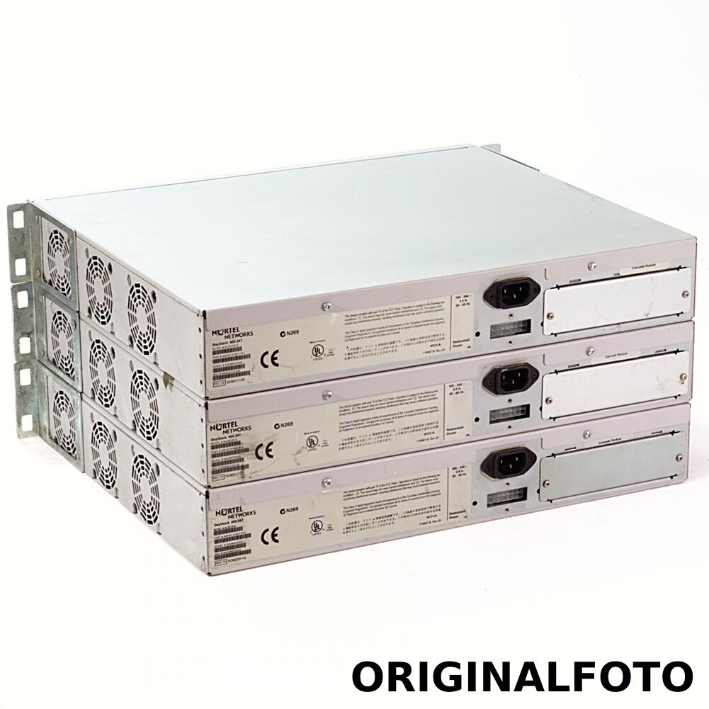 3x Nortel BayStack 450 model 24T Switch 24 Port Managed Desktop