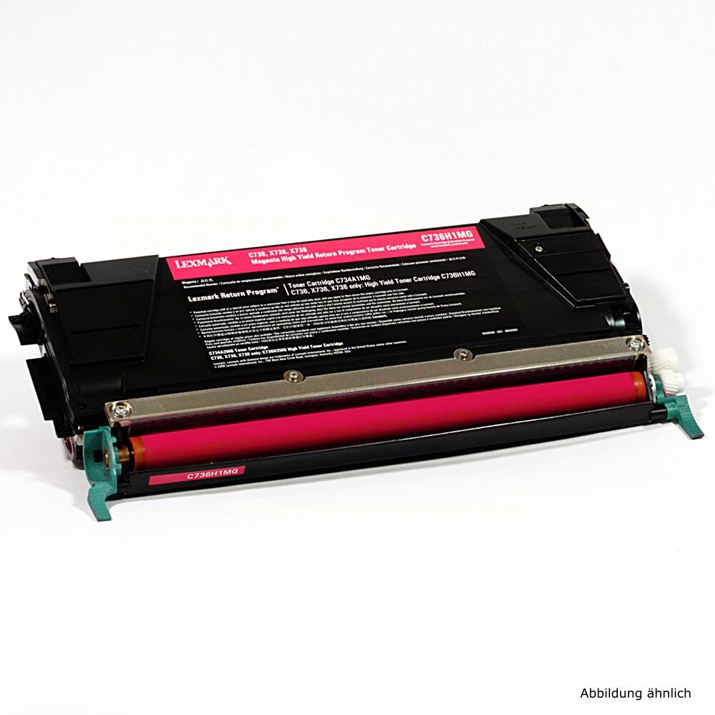 Lexmark C736H1MG Original Toner Magenta C736 C736d C736 DN N 738de gebraucht