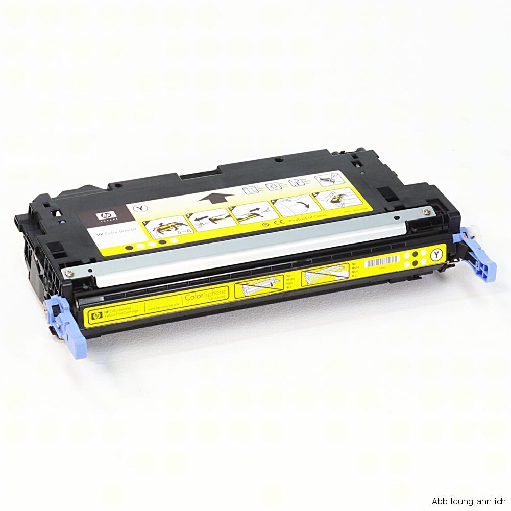 HP Q7582A Original Toner Gelb 503A für 3800N 3800DN CP3505N CP3505DN gebraucht   Toner Füllstand 80% Toner