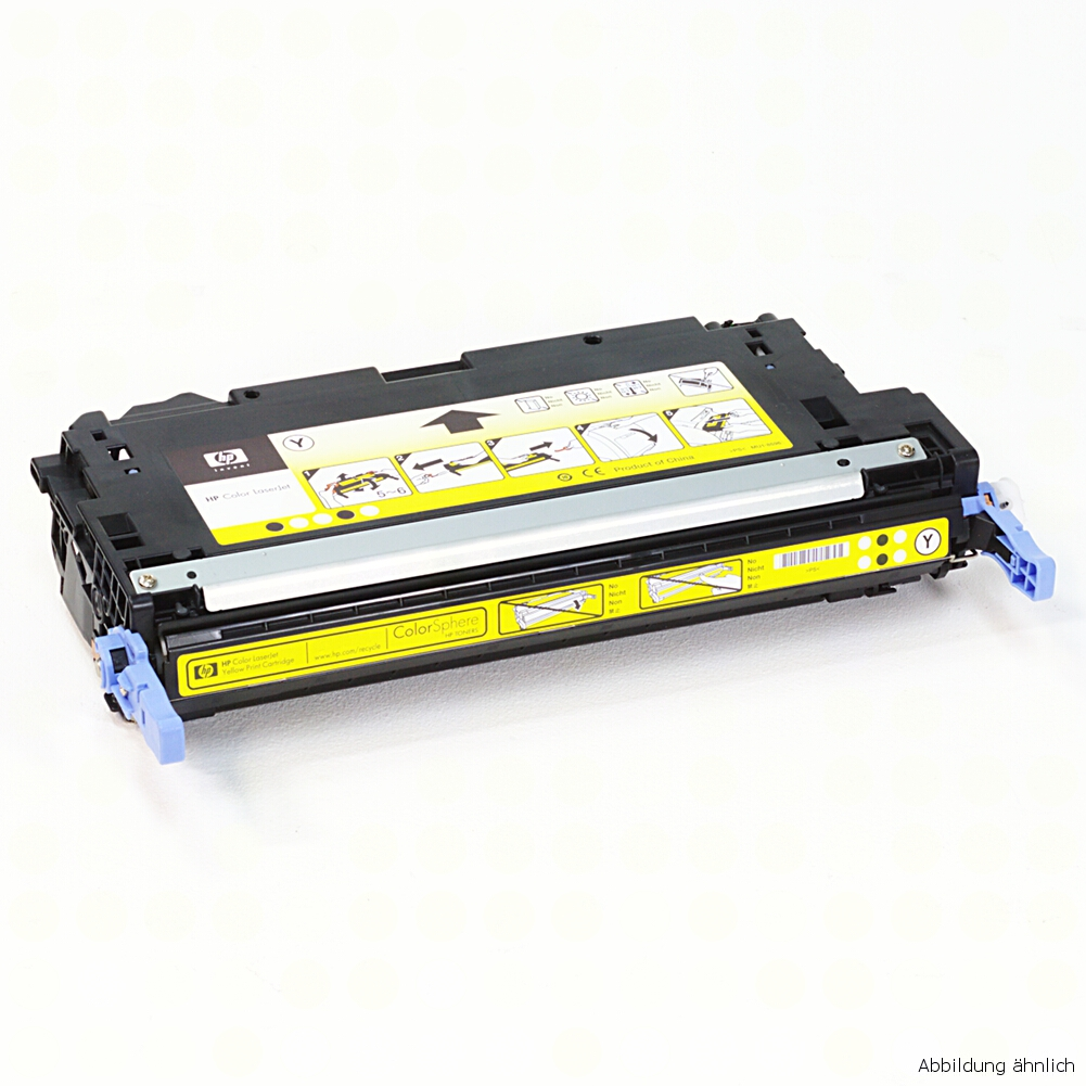 HP Q7582A Original Toner Gelb 503A für 3800N 3800DN CP3505N CP3505DN gebraucht   Toner Füllstand 70% Toner