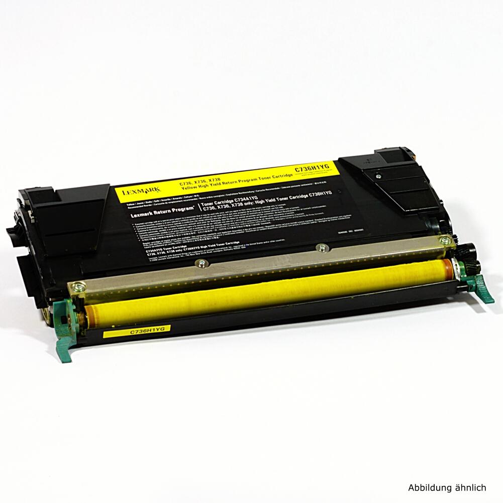 Lexmark C736H1YG Original Toner Gelb Drucker C736 C736d C736 DN N 738de gebraucht