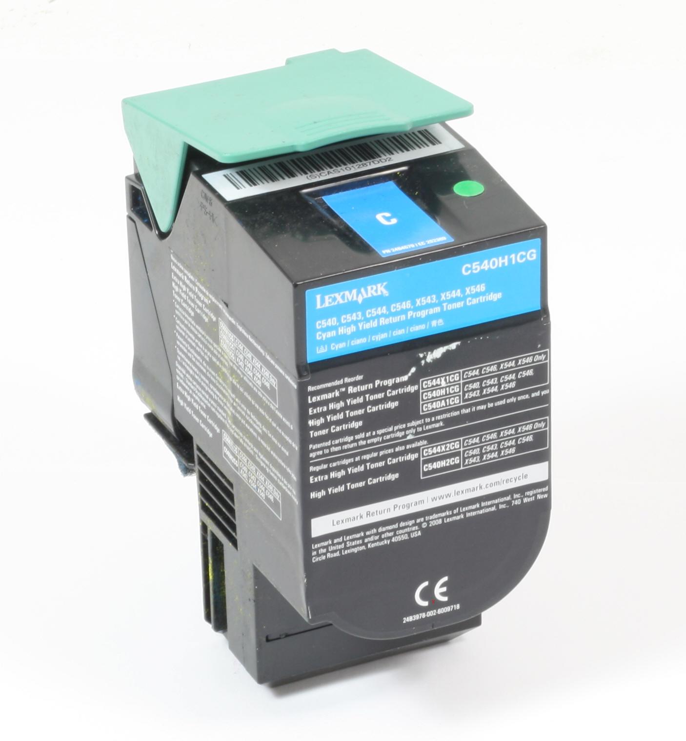 Lexmark C540H1CG Original Toner Cyan C540 C543 C544 C546 X543 X544 X546 gebraucht