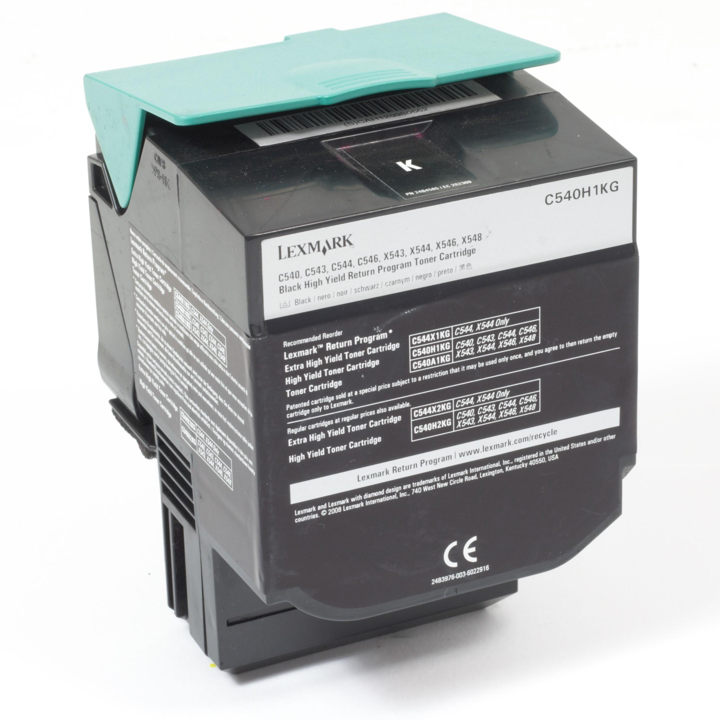 Lexmark C540H1KG Original Toner Schwarz C540 C543 C544 C546 X543 X544 X546 gebraucht