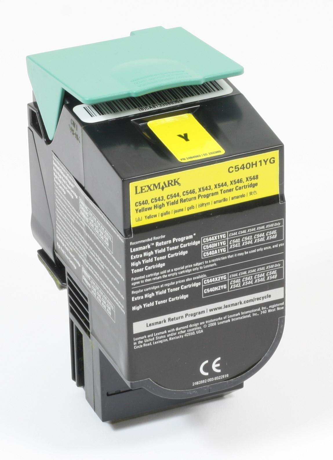 Lexmark C540H1YG Original Toner Gelb C540 C543 C544 X543 X544 X546 X548 gebraucht