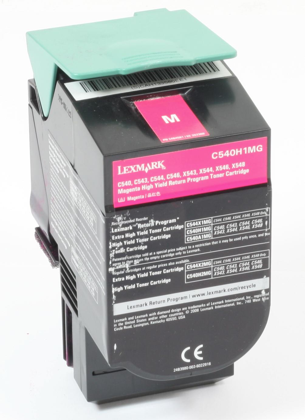 Lexmark C540H1MG Original Toner Magenta C540 C543 C544 C546 X543 X544 X546 gebraucht