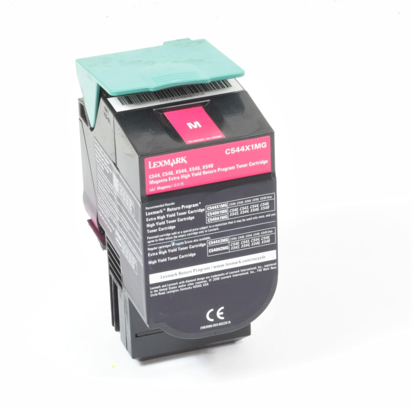 Lexmark C544X1MG Original Toner Magenta C544 C546 X544 X546 X548 gebraucht