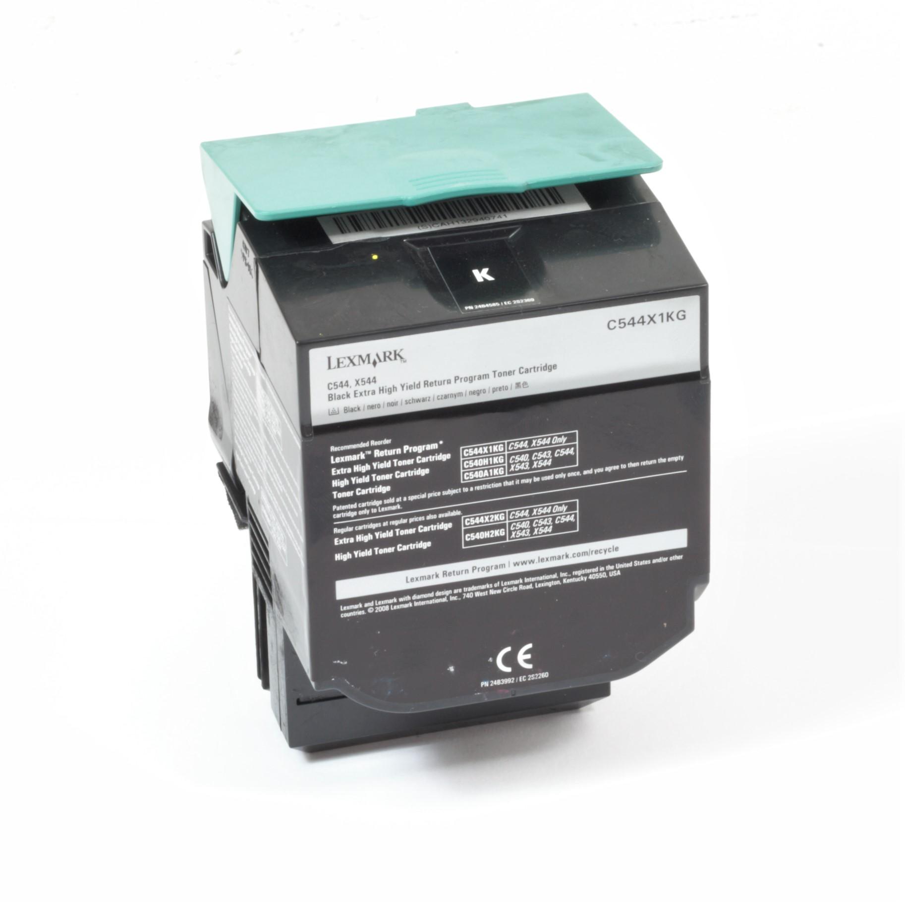 Lexmark C544X1KG Original Toner Schwarz C544 C544N C544DN X544 X544N X544DN gebraucht