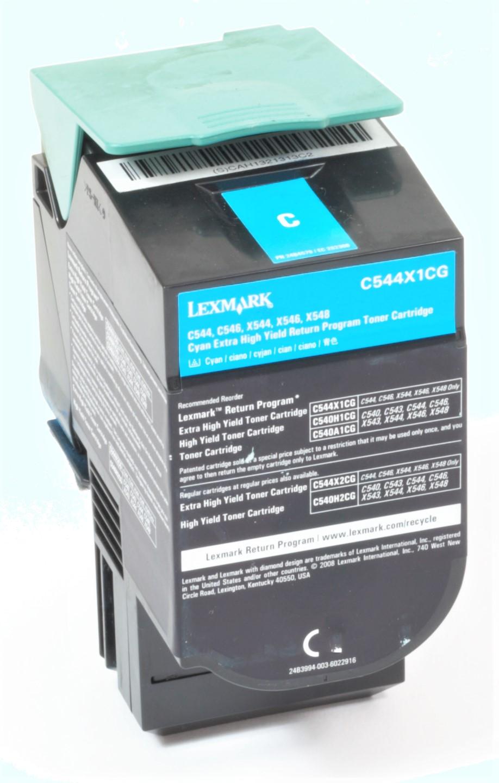 Lexmark C544X1CG Original Toner Cyan C544 C546 X544 X546 X548 gebraucht