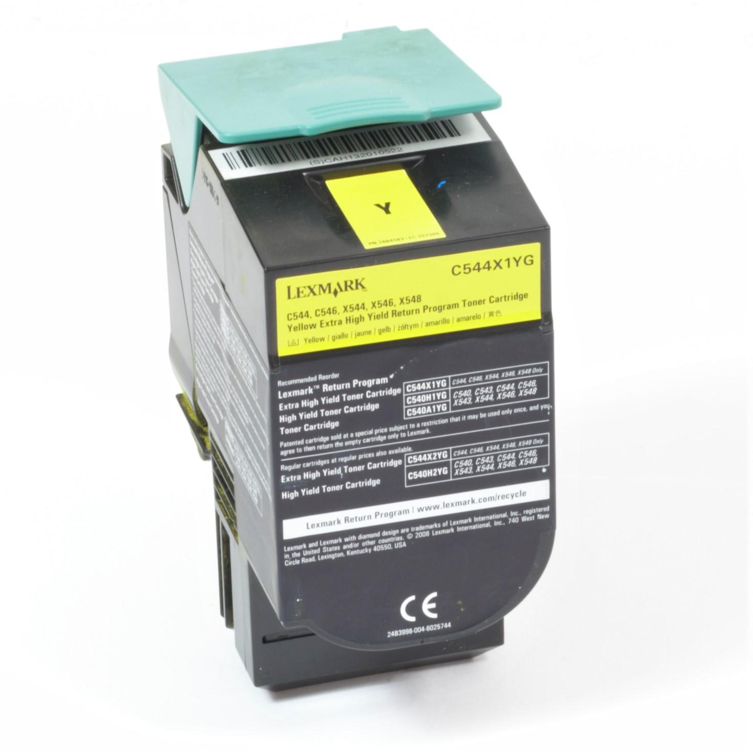 Lexmark C544X1YG Original Toner Gelb C544 C546 X544 X546 X548 gebraucht