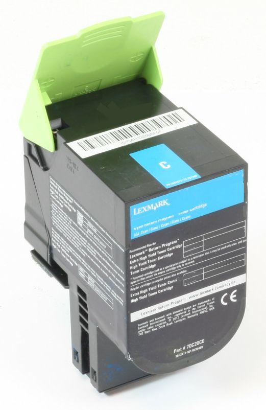Lexmark Lexmark 702HCE Original Toner Cyan CS310 CS410 CS510 gebraucht   Toner Füllstand 55% Toner
