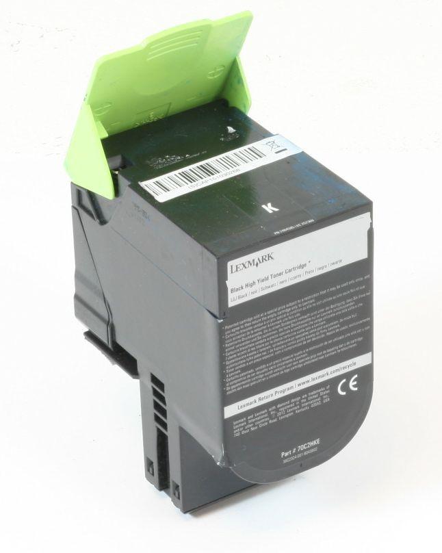 Lexmark 702HKE Original Toner Schwarz CS310 CS410 CS510 gebraucht   Toner Füllstand 50% Toner