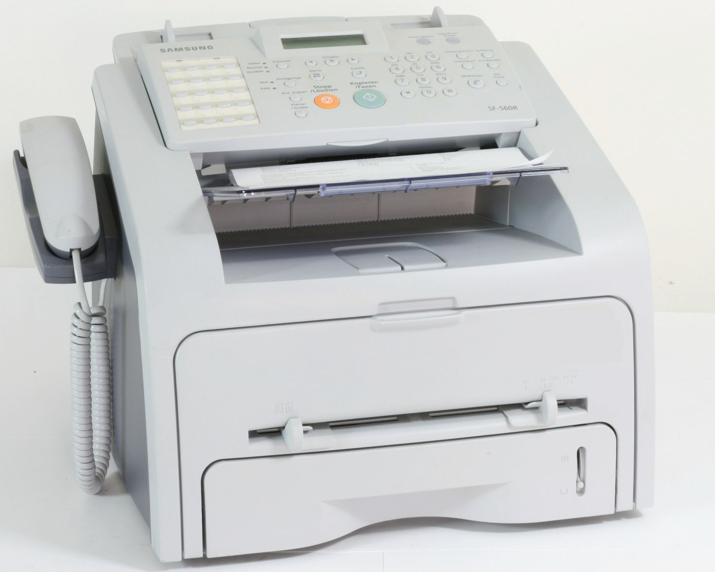 Samsung SF-560R Faxgerät Laser Fax Kopierer Scanner gebrauchte Drucker /  2150  Seiten gedruckt