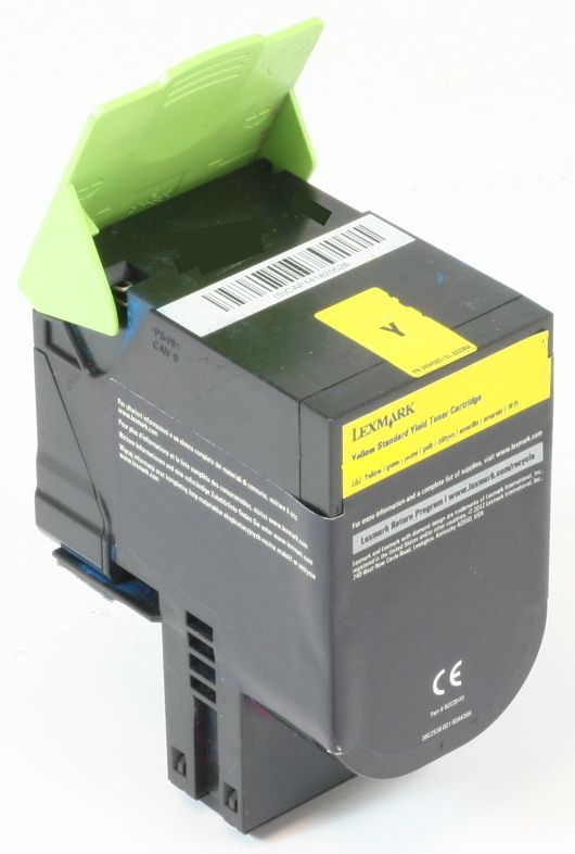 Lexmark 702HY Original Toner Gelb CS310 CS410 CS510 gebraucht   Toner Füllstand 40% Toner