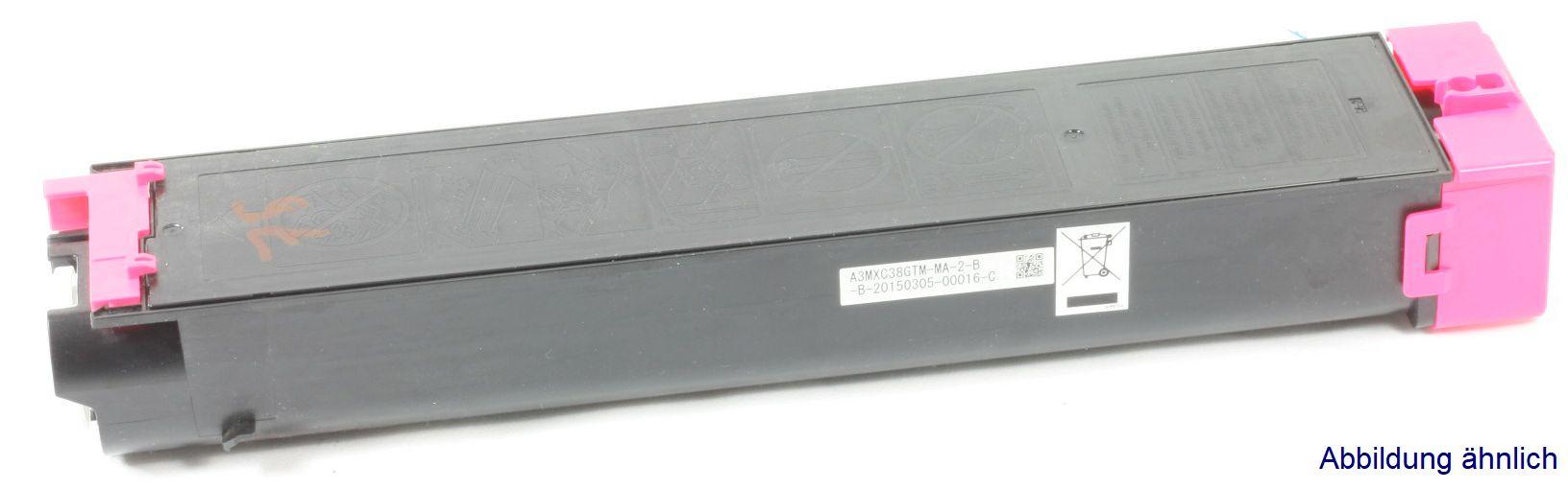 Sharp MX-C38GTM Original Toner Magenta MX-C310 MX-C311 MX-C380 gebraucht