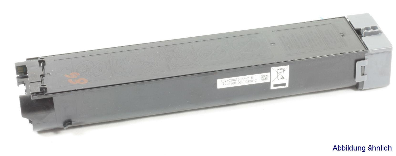 Sharp MX-C38GTB Original Toner Schwarz MX-C310 MX-C311 MX-C380 gebraucht