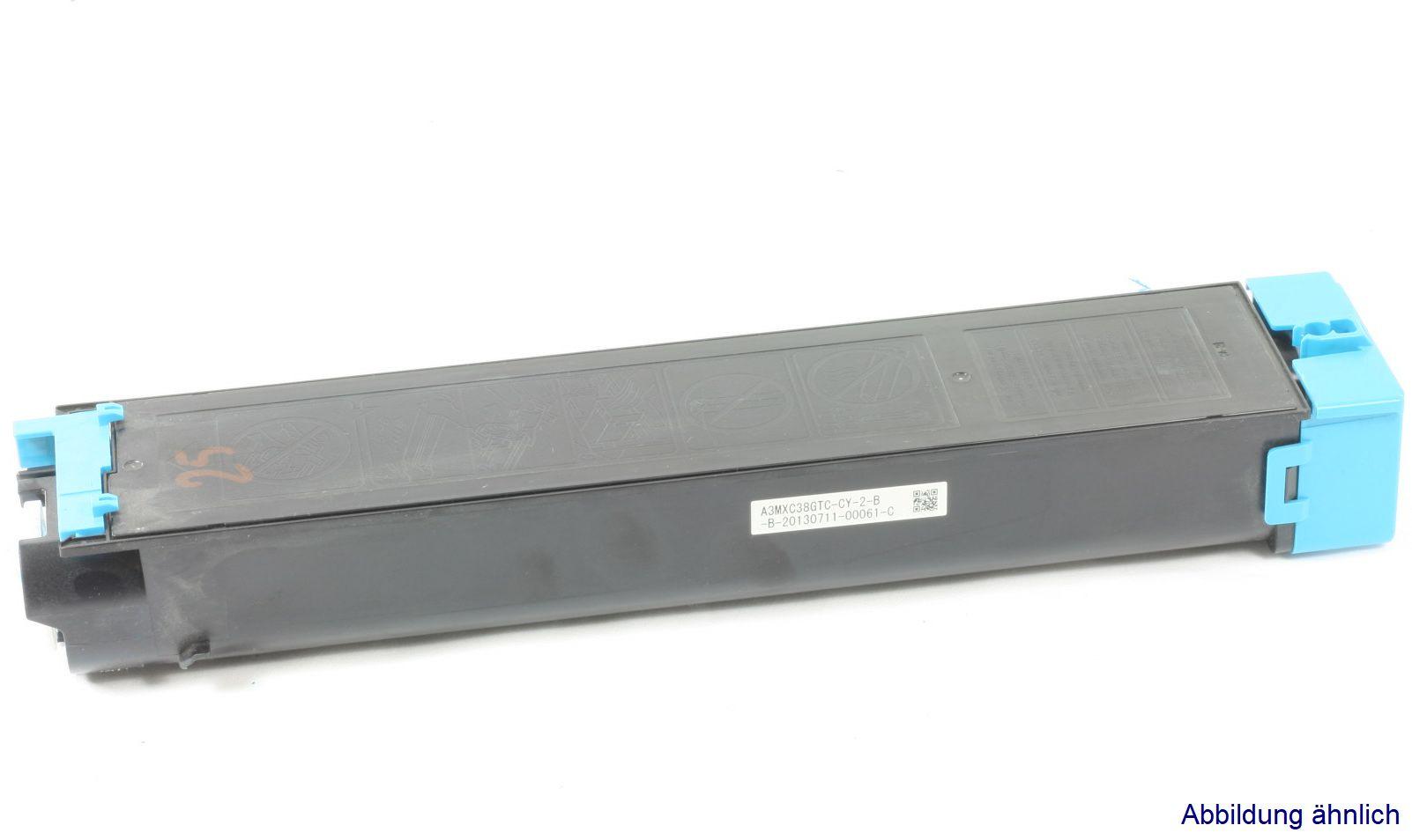 Sharp MX-C38GTC Original Toner Cyan MX-C310 MX-C311 MX-C380 gebraucht