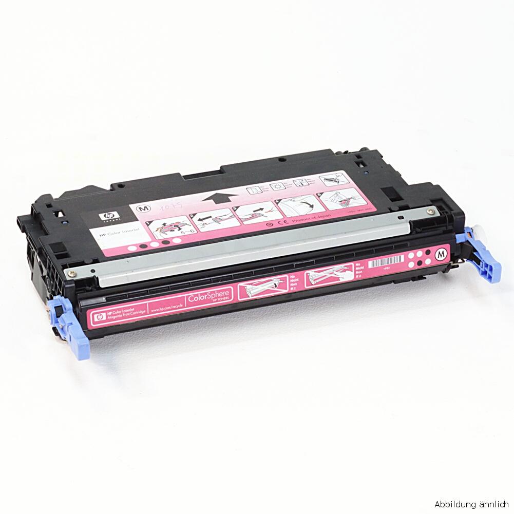 HP Original Toner 124A Magenta Q6003A für 1600 2600 2605 CM1015 CM1017 gebraucht   Toner Füllstand 55% Toner