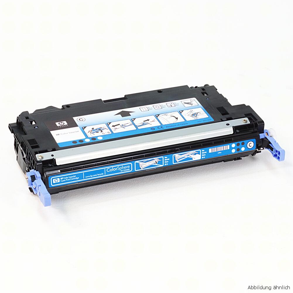 HP Original Toner 124A Cyan Blau Q6001A für 1600 2600 2605 CM1015 CM1017 gebraucht   Toner Füllstand 30% Toner
