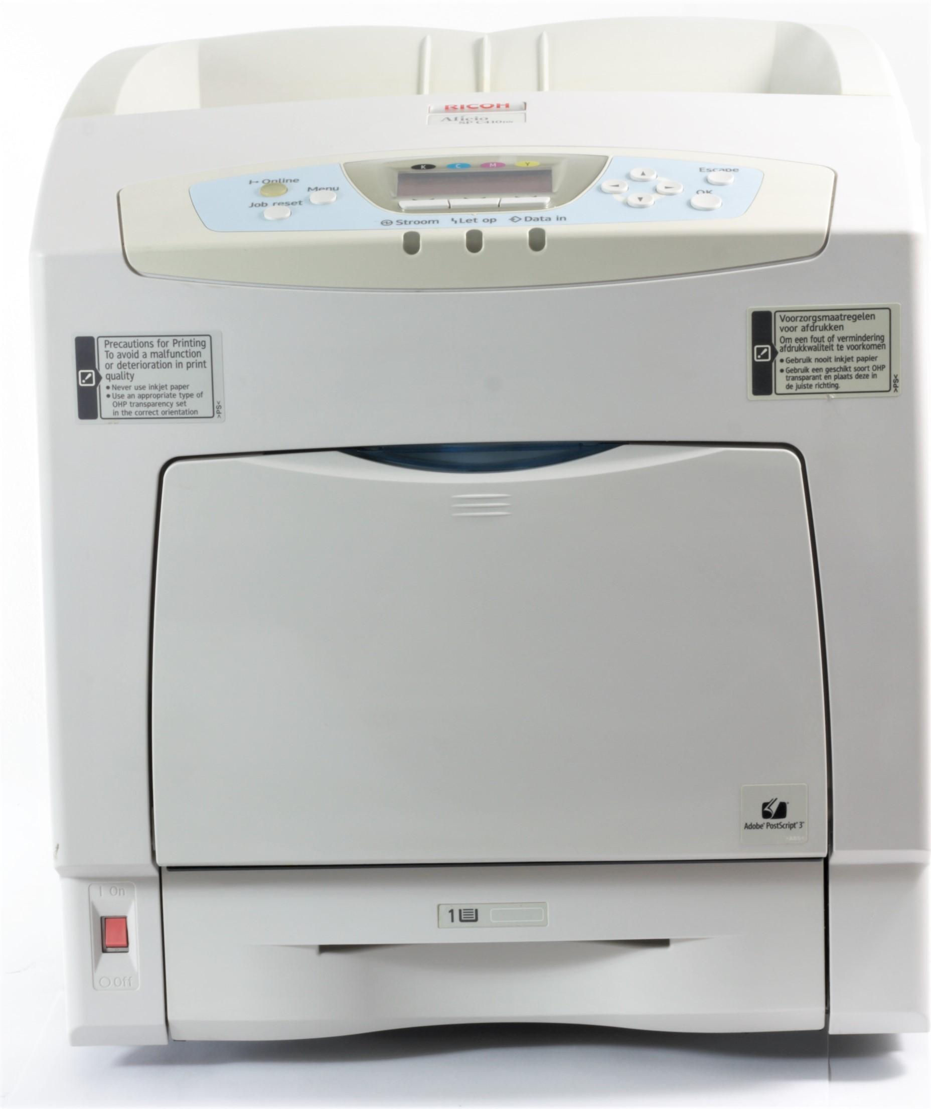 Ricoh Aficio SP C410DN Color Drucker Laserdrucker gebraucht 143687