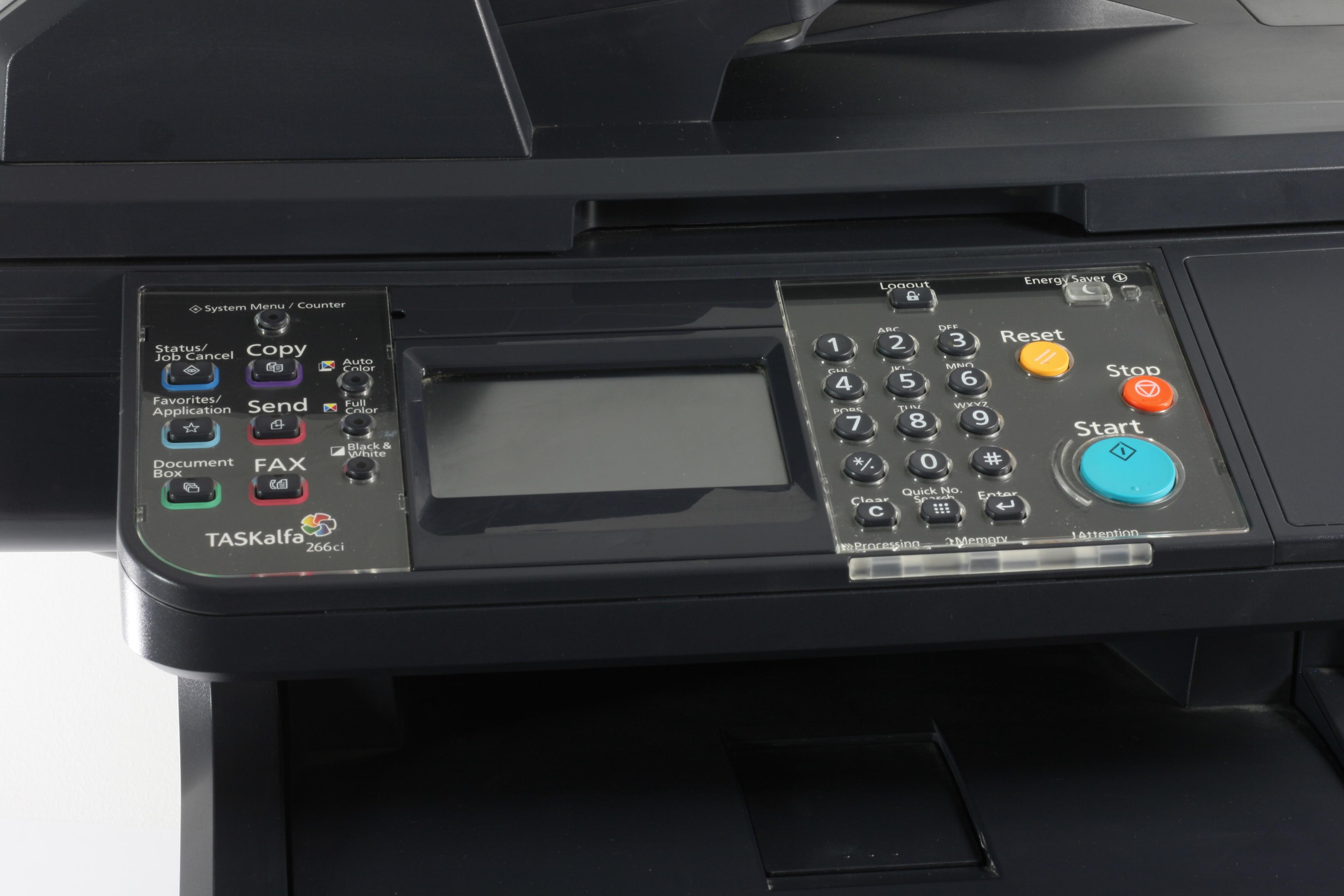 Kyocera Taskalfa 266ci MFP Drucker Laserdrucker Kopierer Scanner Fax Color gebraucht /  unter 100.000 Seiten