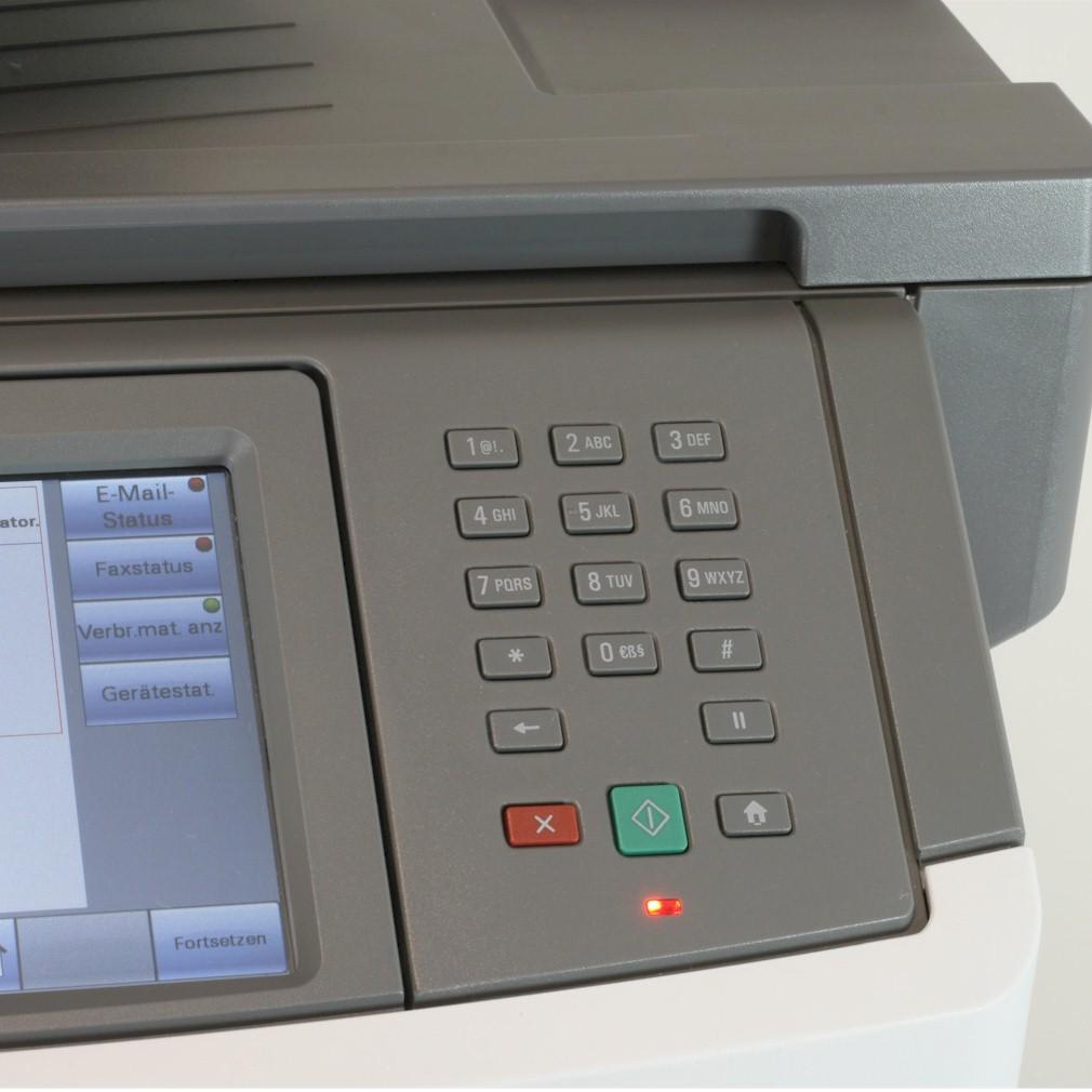 Lexmark Drucker X464de Multifunktionsgerät  Kopierer Scanner Fax gebraucht /  unter 50.000 Seiten