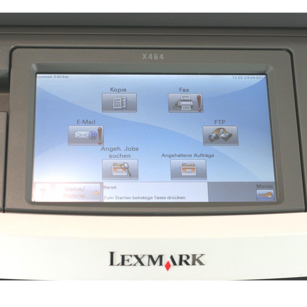 Lexmark Drucker X464de Multifunktionsgerät  Kopierer Scanner Fax gebraucht /  unter 50.000 Seiten gedruckt