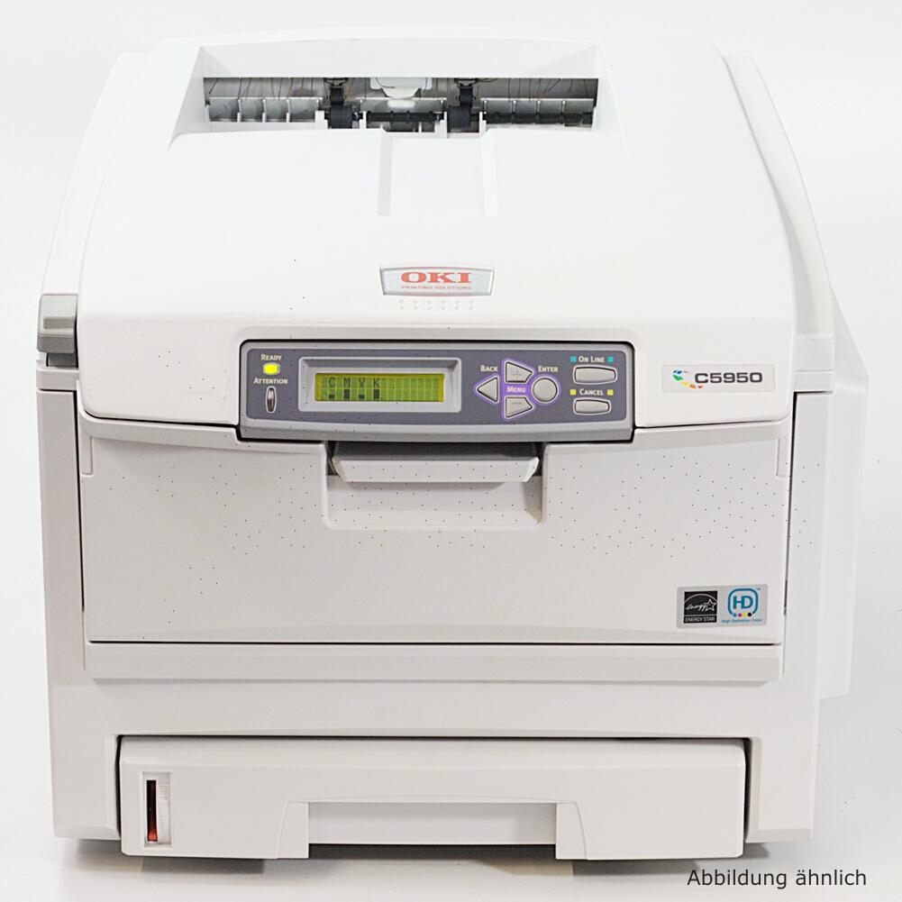 OKI Drucker C5950N Color Netzwerk Laserdrucker gebraucht unter 100.000 Seiten gedruckt