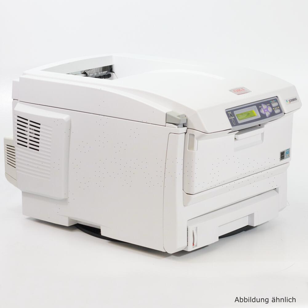 OKI Drucker C5950N Color Netzwerk Laserdrucker gebraucht unter 75.000 Seiten gedruckt