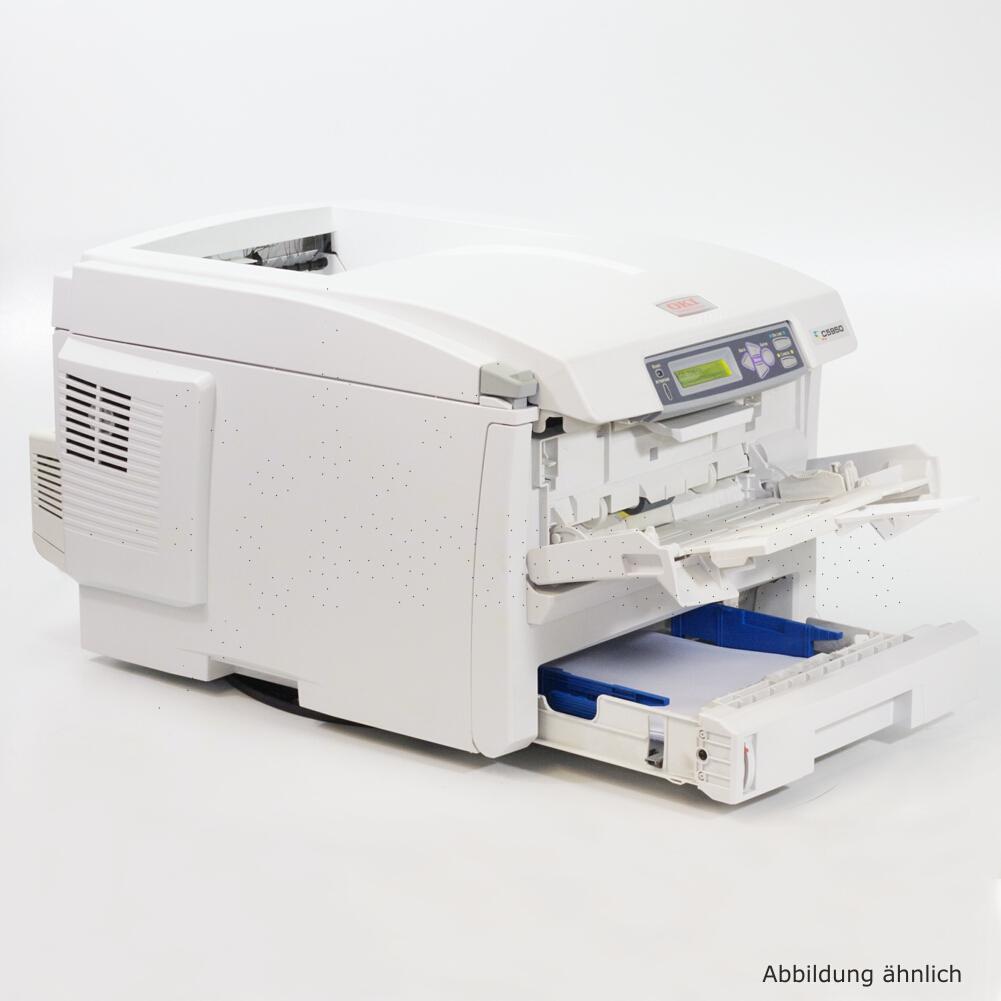 OKI Drucker C5950N Color Netzwerk Laserdrucker gebraucht unter 40.000 Seiten gedruckt