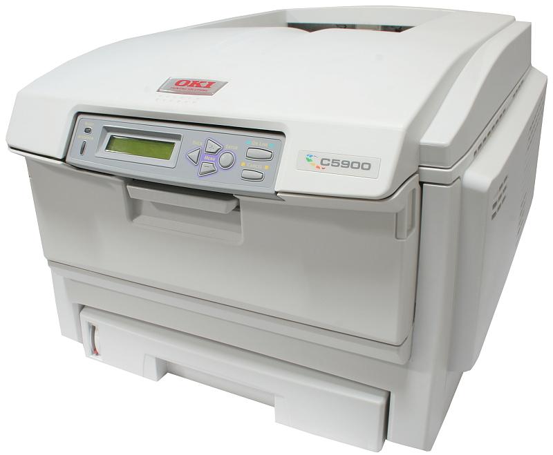 OKI Drucker C5900N Color Netzwerk Laserdrucker gebraucht unter 40.000 Seiten gedruckt